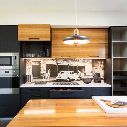 Kitchen lighting, surfaces and materials